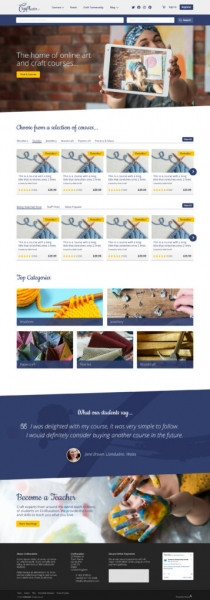 Craftucation home page mock-up