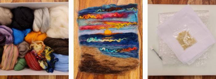 Some still images from the Introduction to Felting course Nikki is working on