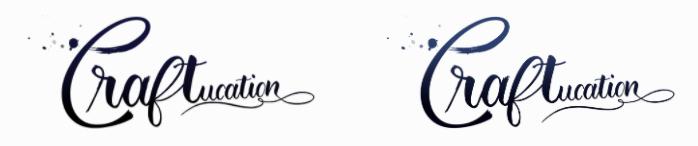 Original (left) and ne 'bluer' one (right)