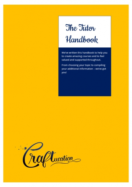 The cover of our new Tutor Handbook!